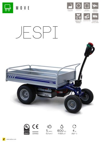 JESPI electric platform trolley