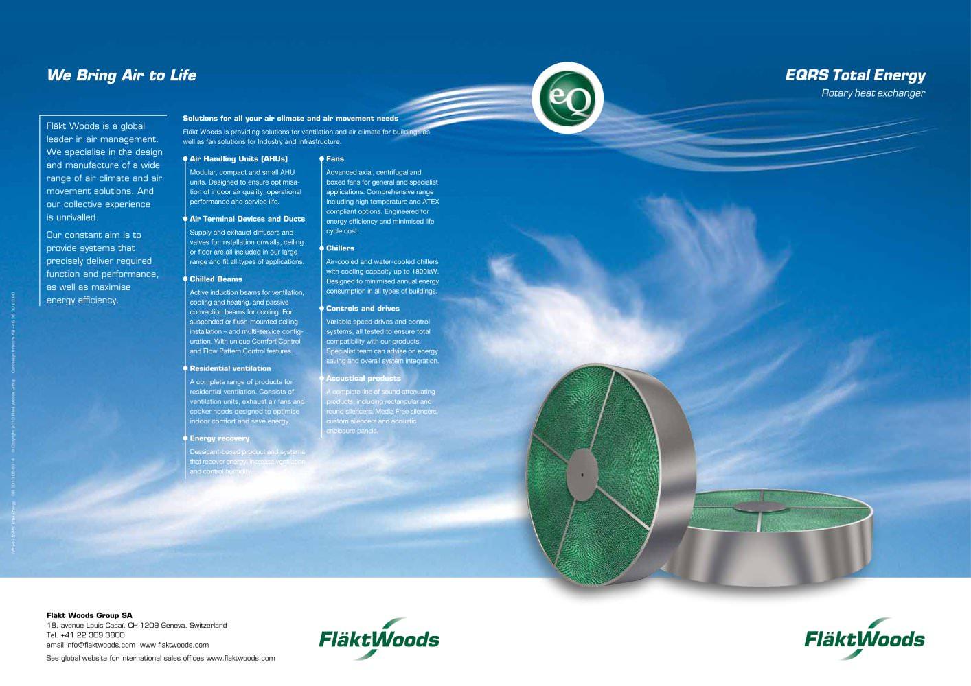 EQRS Total Energy Rotary heat exchanger - Fläkt Woods Group - PDF ...