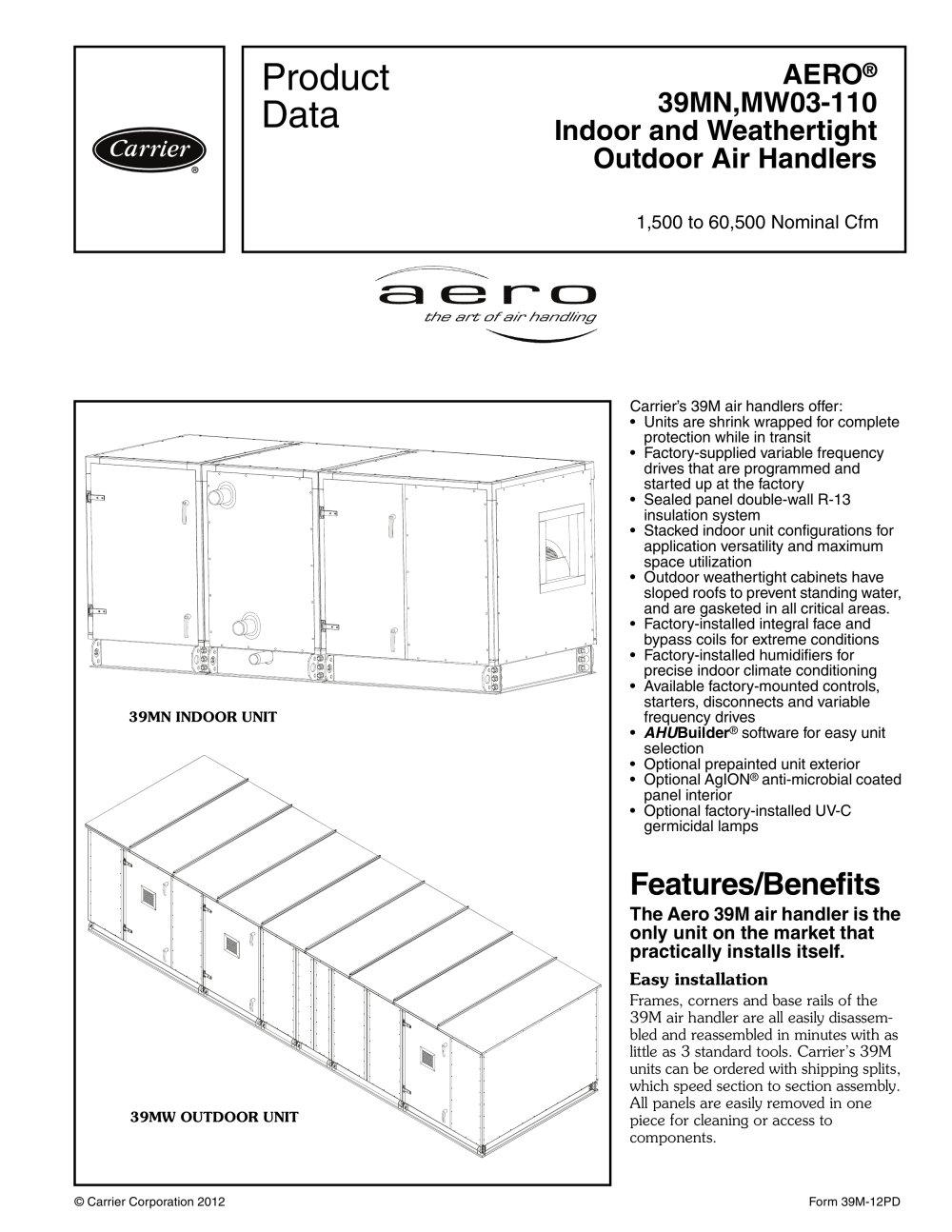 39m aero 95675_1b 39m aero® carrier commercial pdf catalogue technical documentation