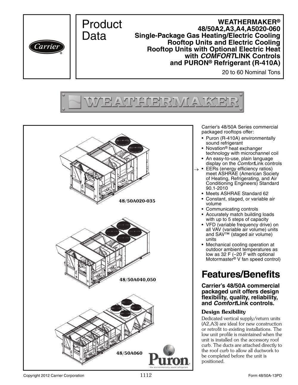 48a weathermaker carrier commercial pdf catalogue technical rh pdf medicalexpo com FC to BACnet Wiring-Diagram BACnet Communication Wiring
