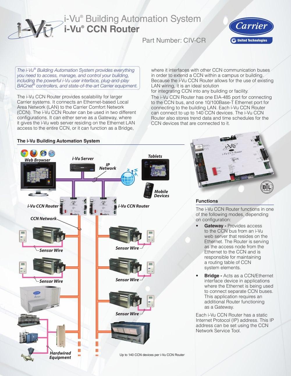 i vu ccn router product data sheet 155986_1b i vu ccn router product data sheet carrier commercial pdf 30xa carrier chiller wiring diagram at bayanpartner.co