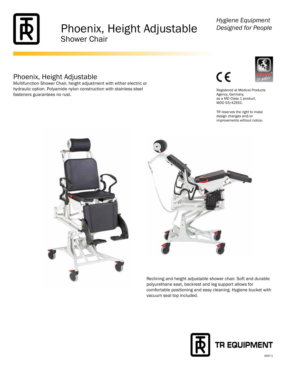 Rebotec Phoenix, height adjustable - TR Equipment AB - PDF Catalogue ...