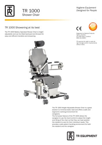 TR 1000 Battery Operated Shower Chair