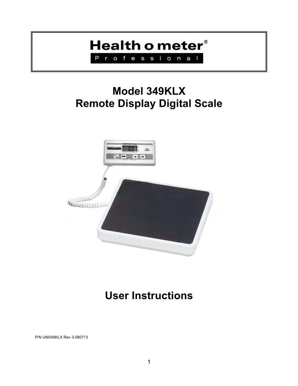 Model 349klx Health O Meter Professional Pdf Catalogue