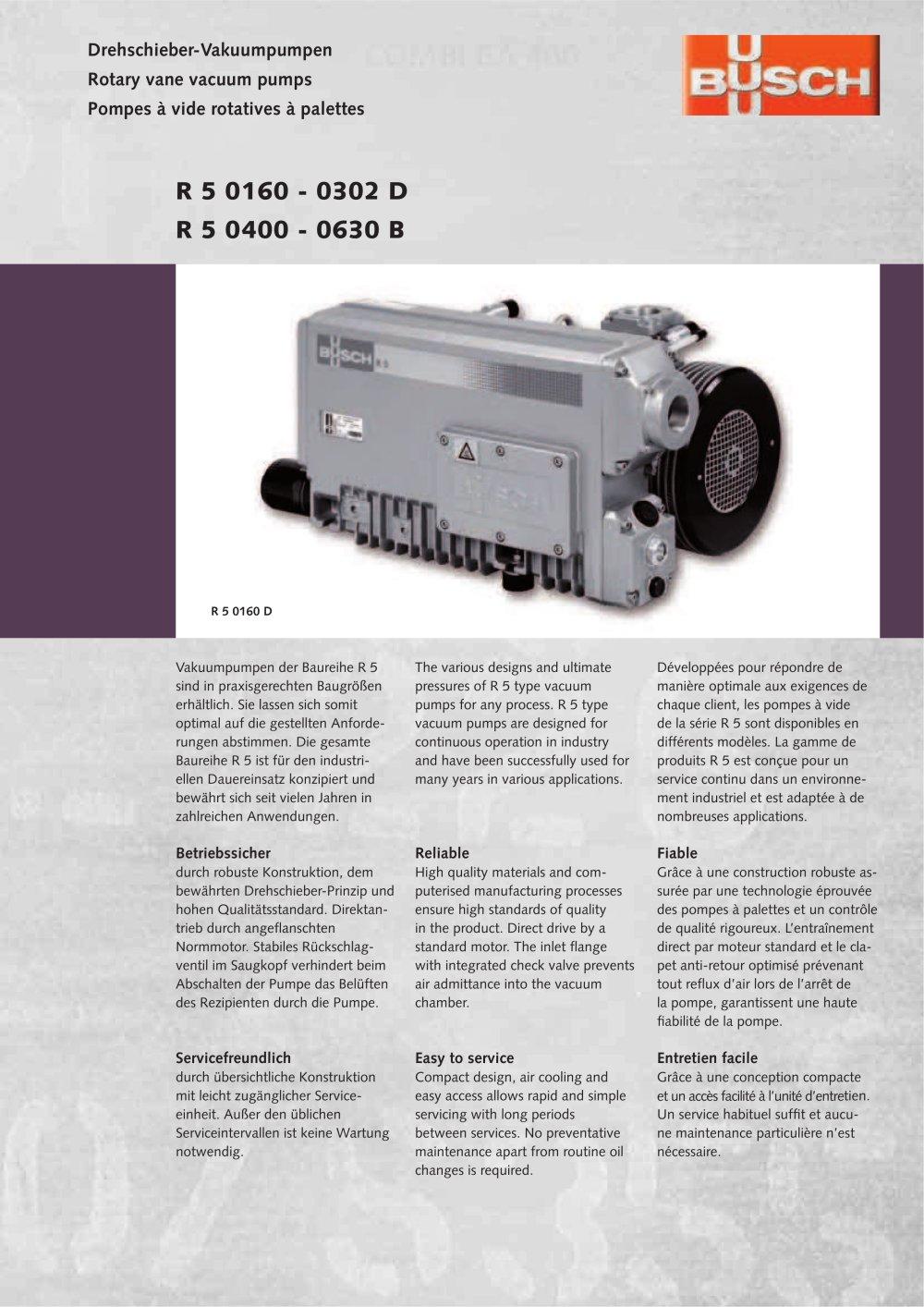 Pompe a vide busch pdf