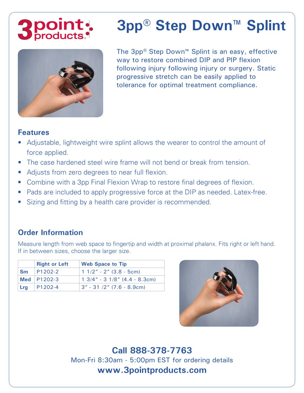 3pp® Step Down™ Splint - 1 / 1 Pages
