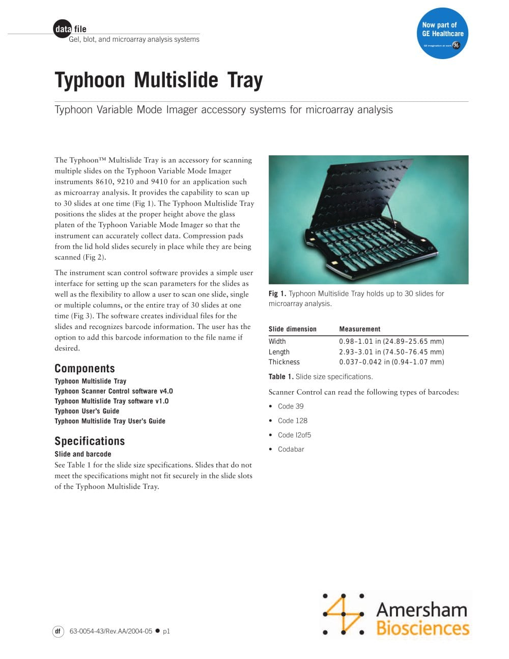 Typhoon Multislide Tray - 1 / 2 Pages