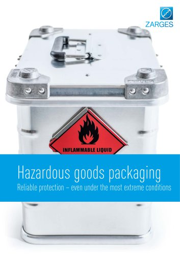 Hazardous goods packaging by ZARGES