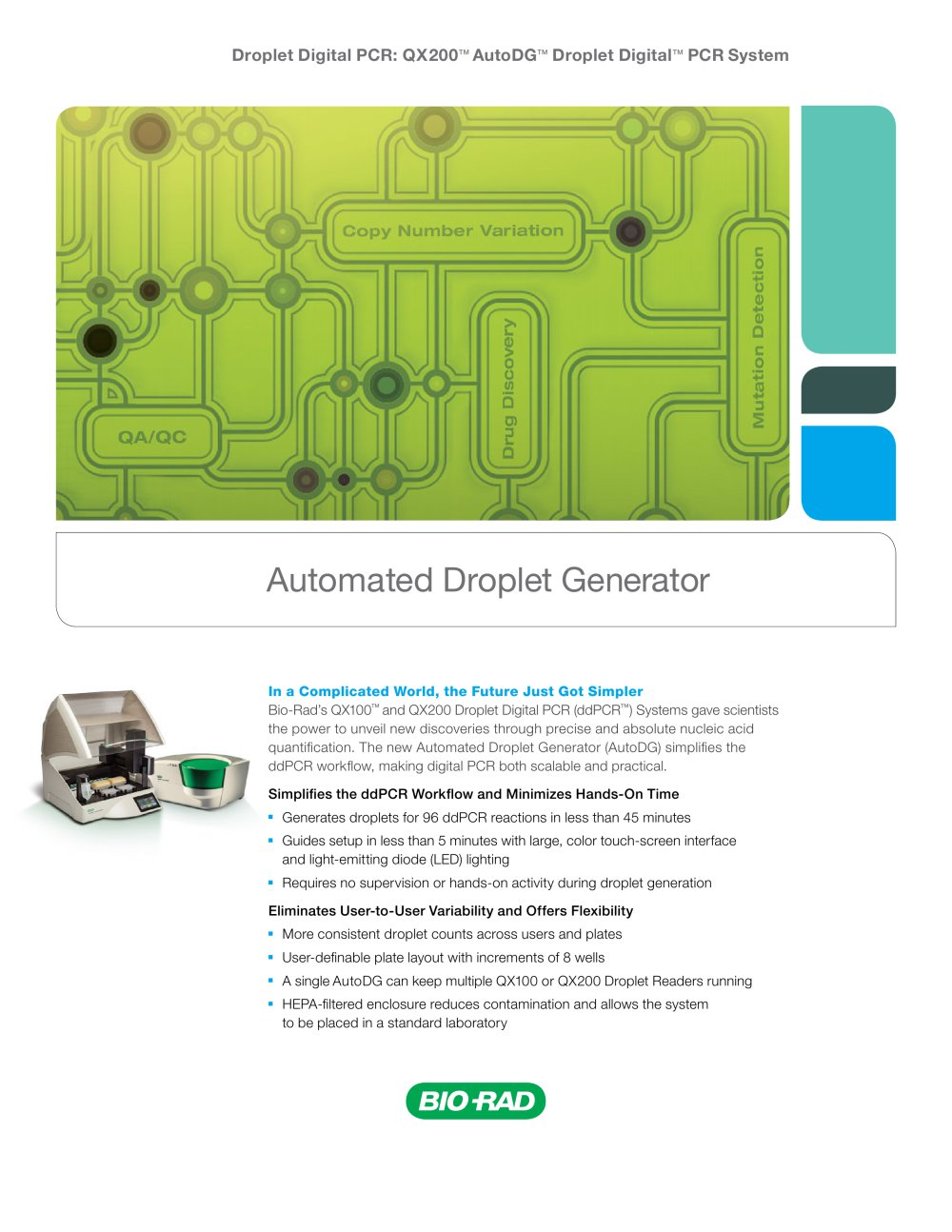 Automated Droplet Generator - Bio-Rad - PDF Catalogue | Technical ...
