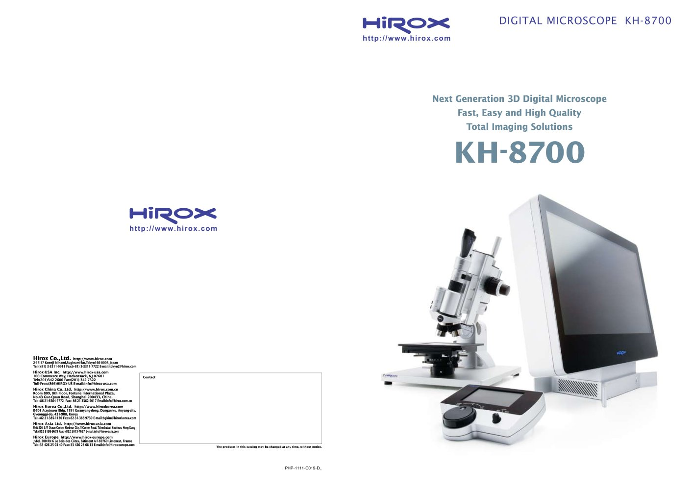 Digital microscope kh 8700 hirox europe pdf catalogue digital microscope kh 8700 1 16 pages ccuart Choice Image