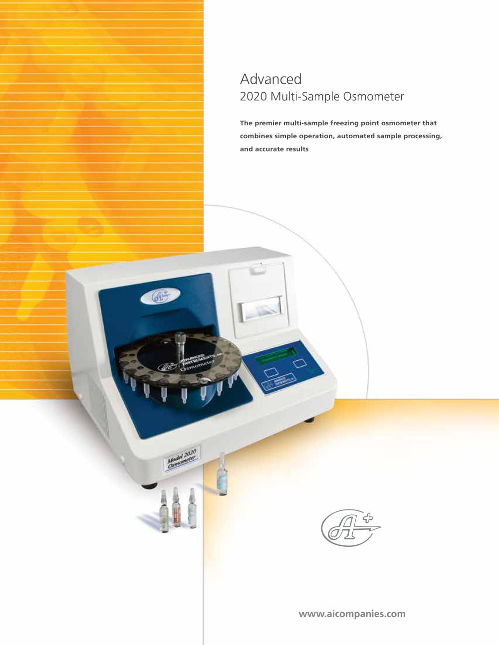 Advanced instruments osmometer, micro-sample model 3320 micro.