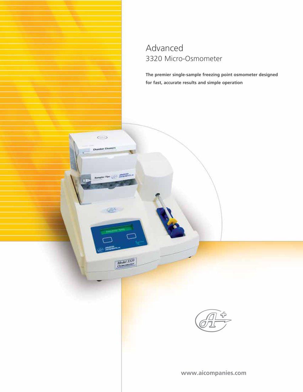 Advanced® model 3320 micro-osmometer advanced instruments inc.