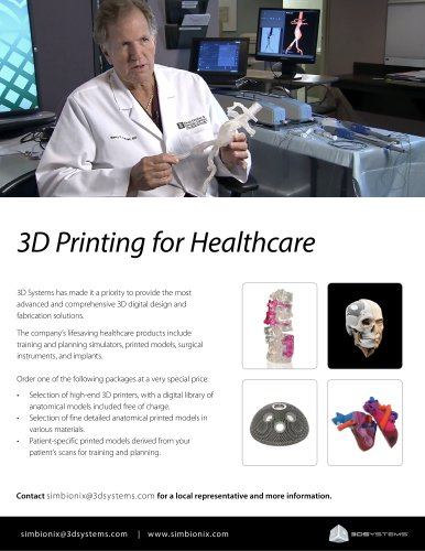 3D Printing for Healthcare - Simbionix - PDF Catalogs | Technical