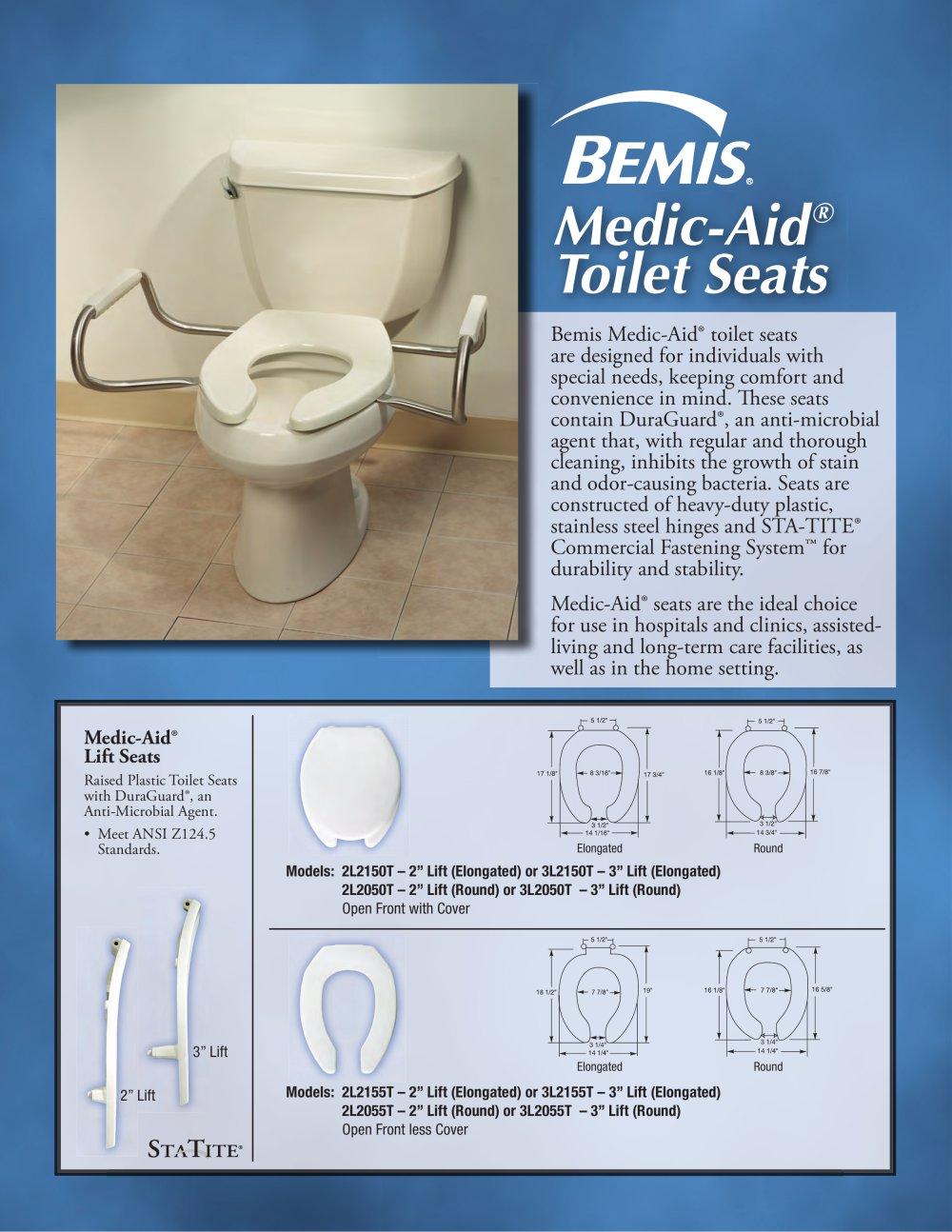 bemis raised toilet seat. Medic Aid  Toilet Seat Brochure 1 2 Pages BEMIS Health Care PDF