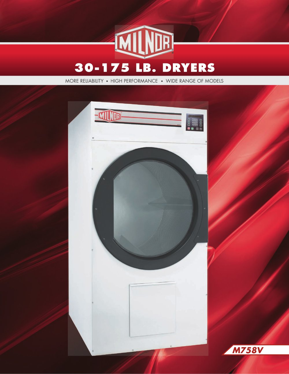 M30-175 Dryers - Milnor - PDF Catalogue | Technical ... on