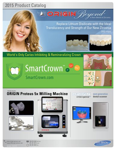 ORIGIN CAD/CAM - Product Catalog