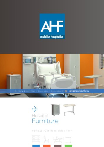 Hospital furniture - AHF - ATELIERS DU HAUT FOREZ - PDF Catalogs