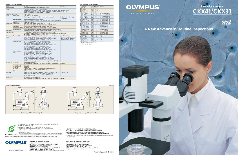 ckx31 ckx41 family brochure olympus microscopy europa pdf