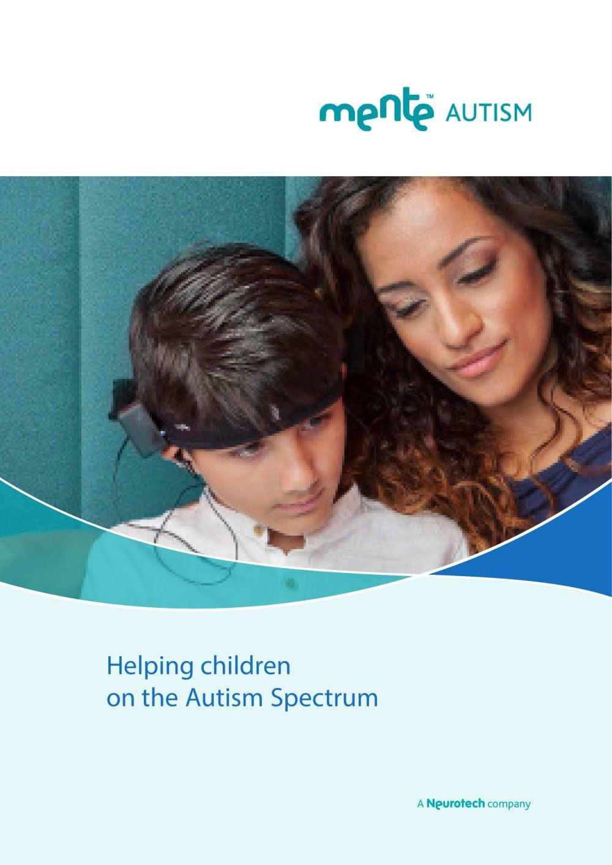 Mente Autism Brochure 1 8 Pages
