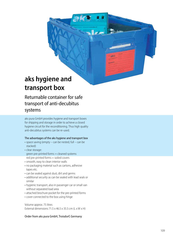 Pura Gmbh aks hygiene transport box aks aktuelle krankenpflege systeme