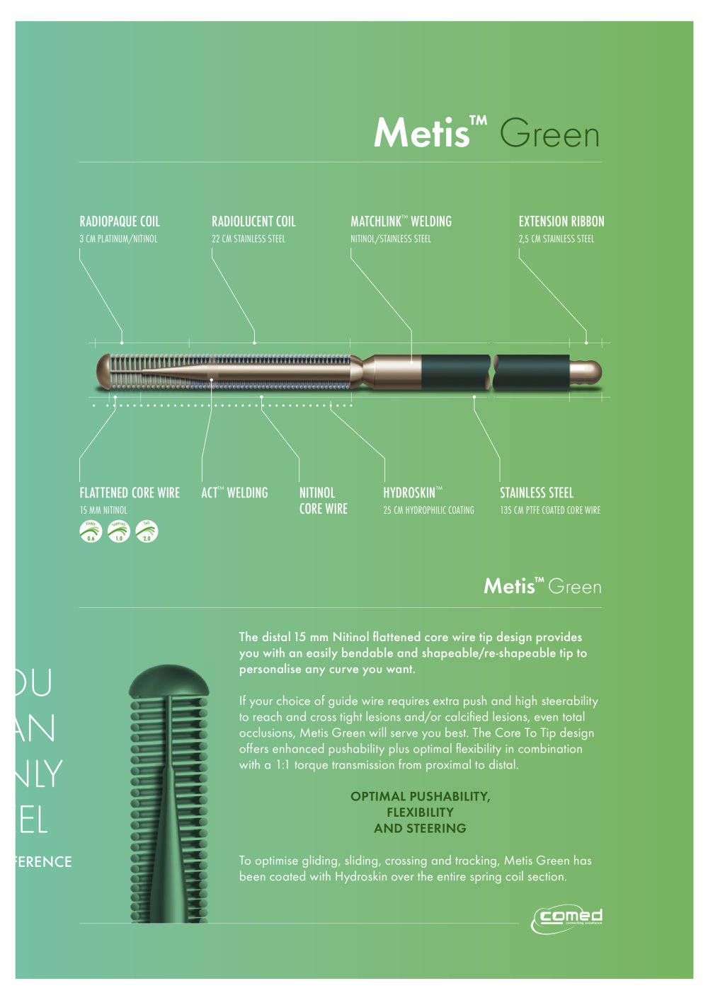 Metis Green Coronary Guide Wire - Comed - PDF Catalogue | Technical ...