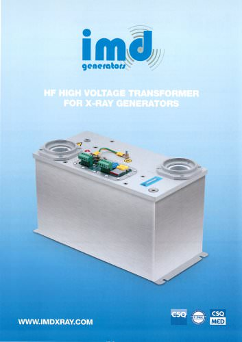 HF HIGH VOLTAGE TRANSFORMER FOR X-RAY GENERATORS