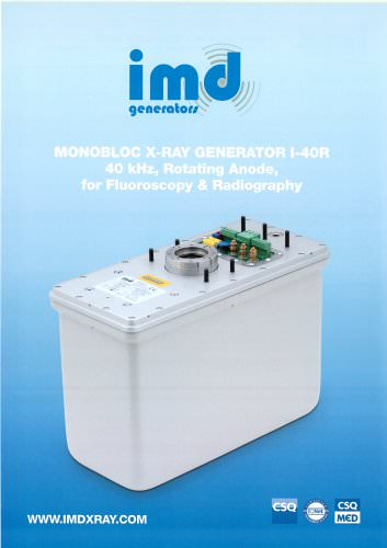 MONOBLOC X-RAY GENERATOR I-40R 40 kHz, Rotating Anode, for Fluoroscopy & Radiography
