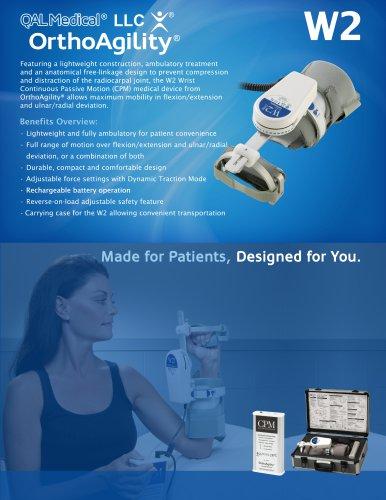 OrthoAgility W2 Wrist CPM Specification Brochure