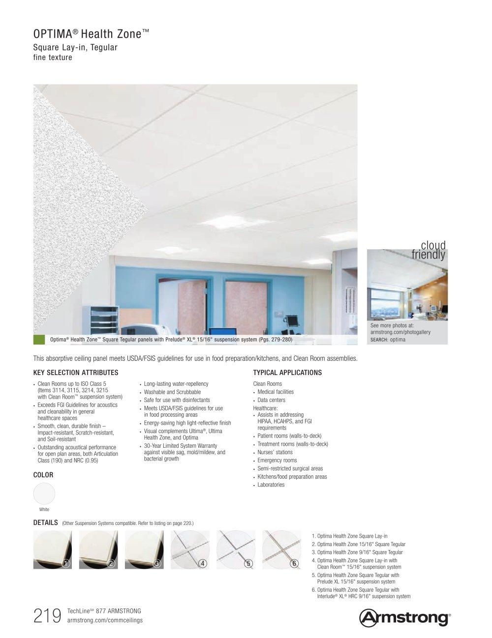 Optima Health Zone Amstrong PDF Catalogue Technical Documentation