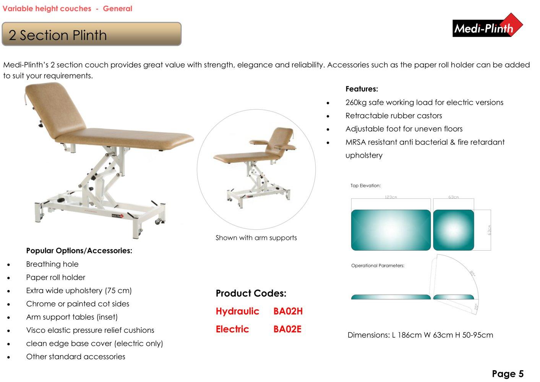 Tremendous 2 Section Plinth Electric Medi Plinth Pdf Catalogs Squirreltailoven Fun Painted Chair Ideas Images Squirreltailovenorg