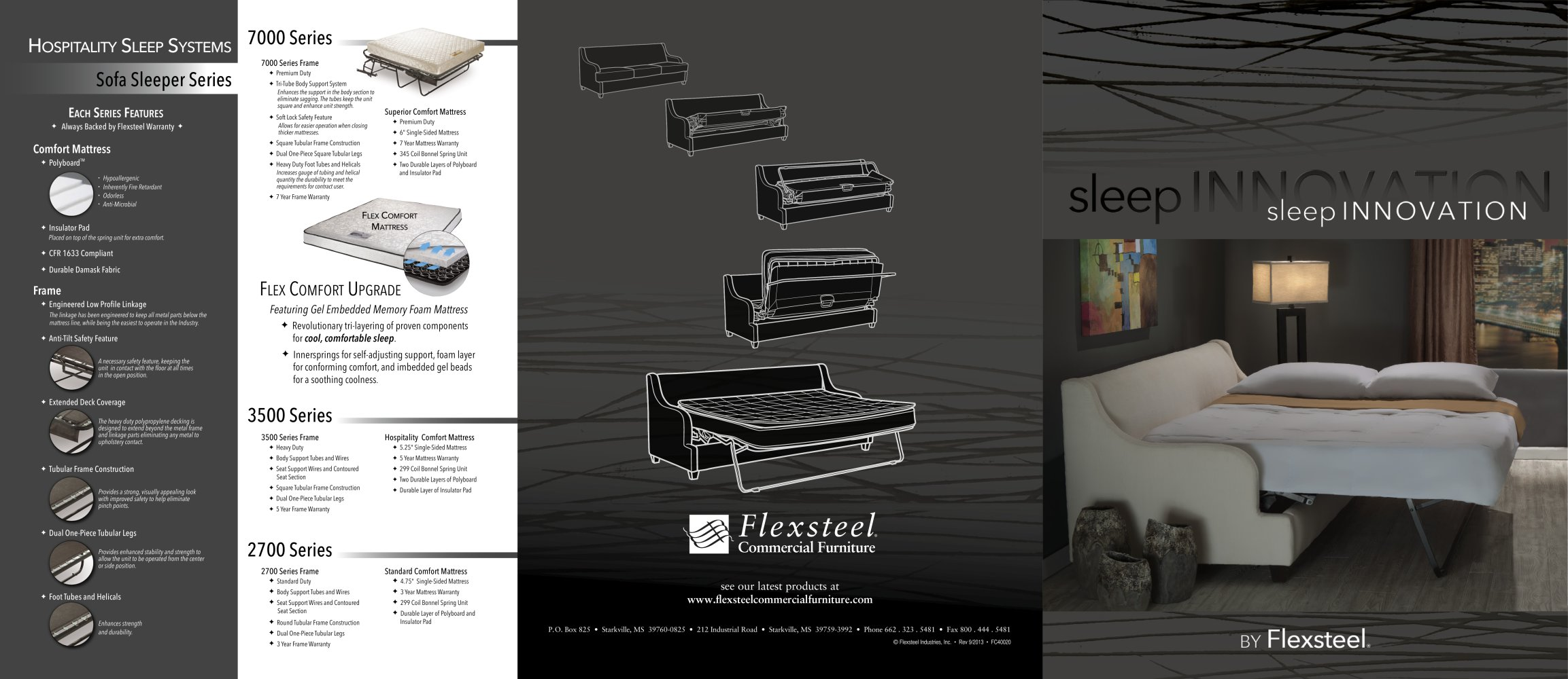 Flexsteel Sleeper Innovation Brochure 1 2 Pages