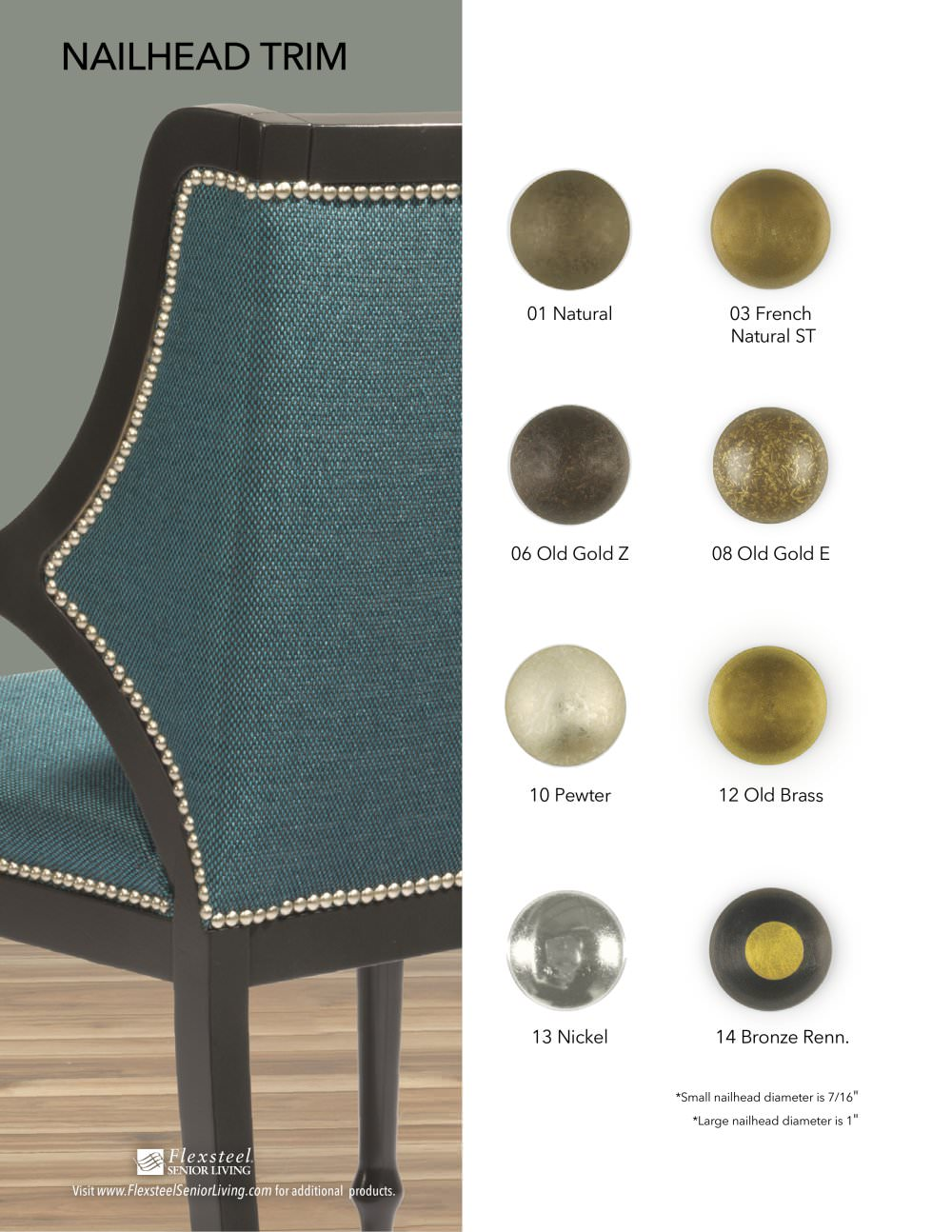 Senior Living Nailhead Trim Options - Flexsteel - PDF Catalogue ...
