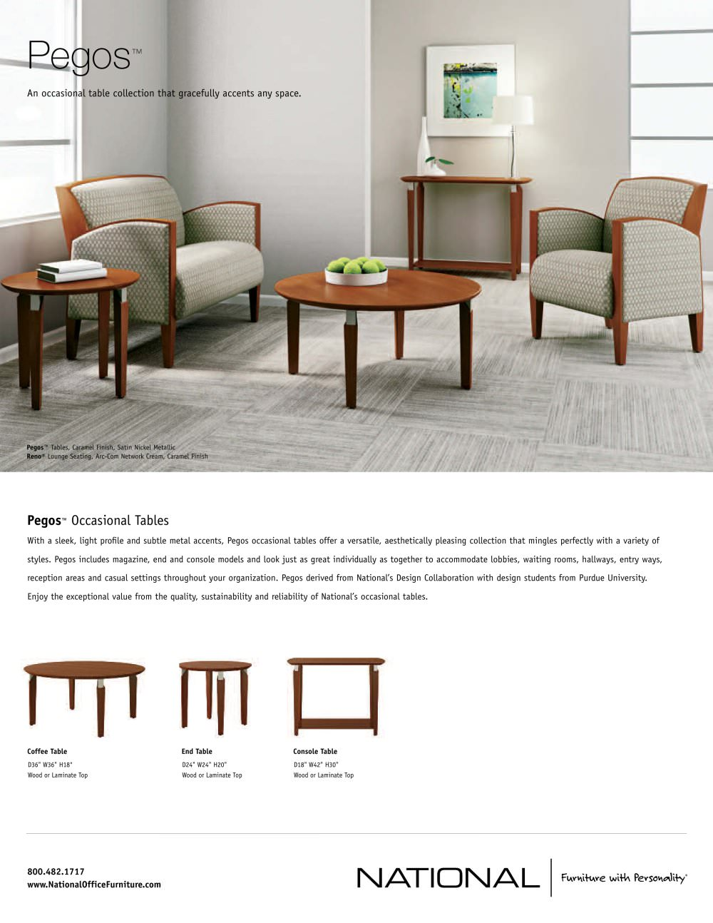Pegos Side Tables National Office Furniture PDF Catalogue