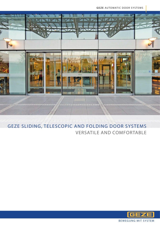 GEZE Sliding, Telescopic and Folding door systems - GEZE - PDF ...