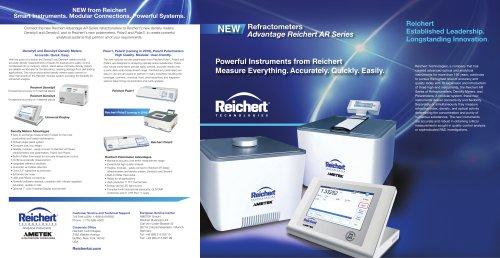 AR5 Refractometer - Reichert Technologies - Analytical Instruments