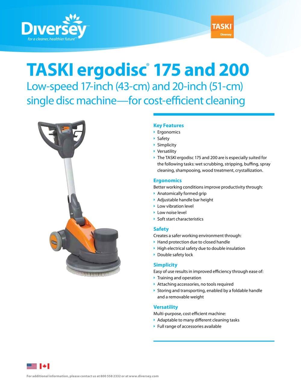 TASKI ergodisc® 175 and 200 - 1 / 2 Pages