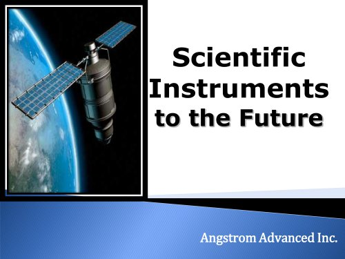 Angstrom Advanced General Brochure