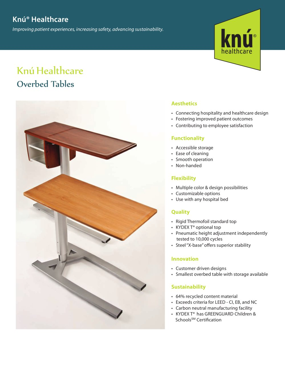 Overbed table with storage - Overbed Tables 1 2 Pages