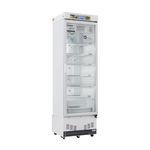 refrigerador para farmácia / vertical / 1 porta / com porta de vidro