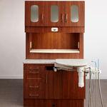 armário para consultório odontológico / com prateleiras / com gavetas / com porta