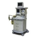 estação de trabalho de anestesia com carrinho / com monitoramento respiratório / com misturador de gás eletrônico