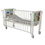 cama de hospital / manual / de altura fixa / com rodízios