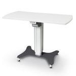 mesa para aparelhos elétrica / de altura regulável / com rodízios