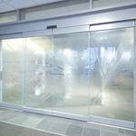 porta de correr / para hospital / em vidro / automática