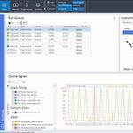 software de análise / de criação de relatórios / de controle / de interpretação