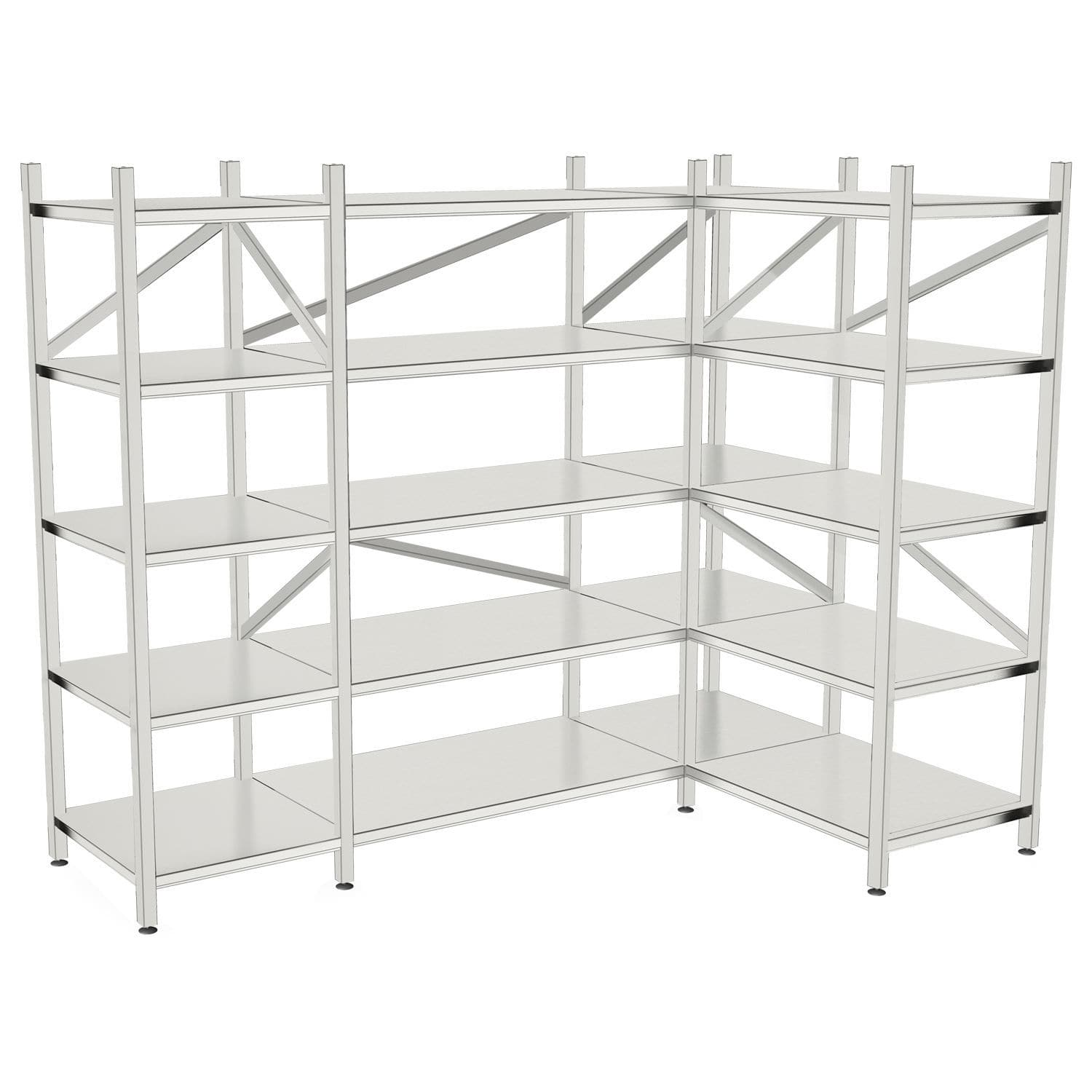 Modular Shelving Unit Mobile Wall Mounted Stainless