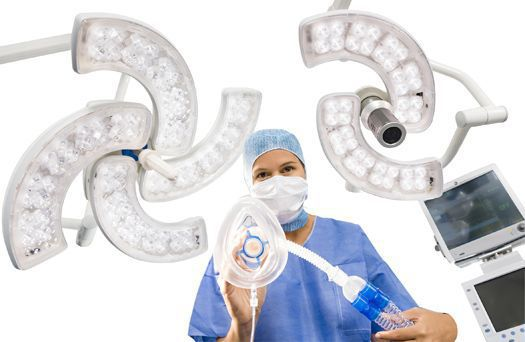 Modular surgical light / ceiling-mounted / LED / with