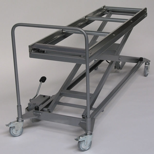 Mortuary trolley / stainless steel / lifting / hydraulic - LHW HS
