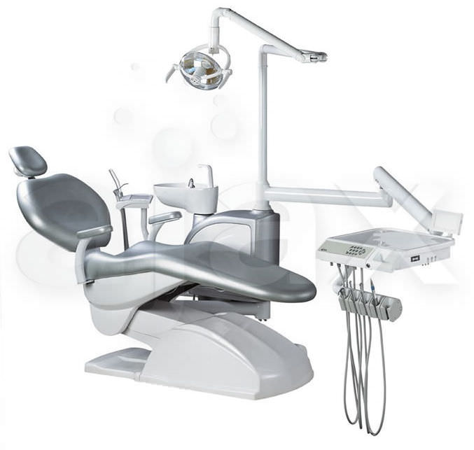 Dental treatment unit with electric chair / with light