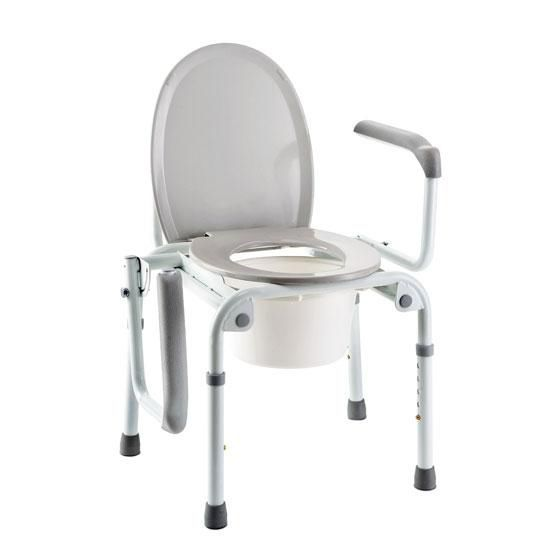 Brilliant Commode Chair With Armrests Height Adjustable Izzo H340 Pabps2019 Chair Design Images Pabps2019Com